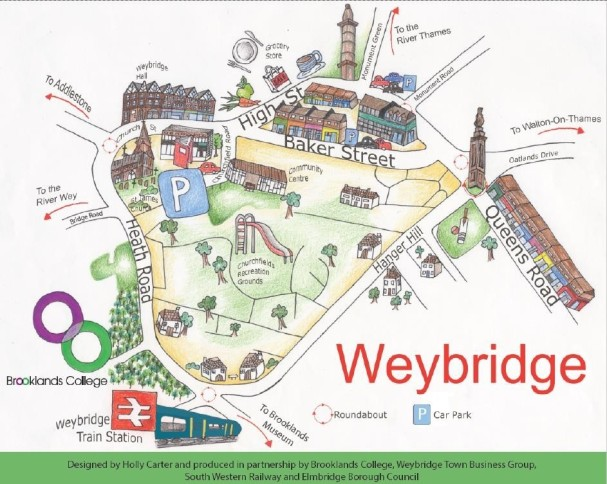 weybridge map